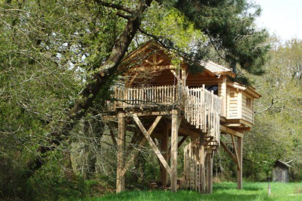 Cabane dans les arbres Morbihan