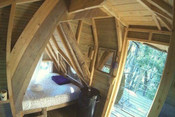 Cabane dans les arbres 56400 Ploemel