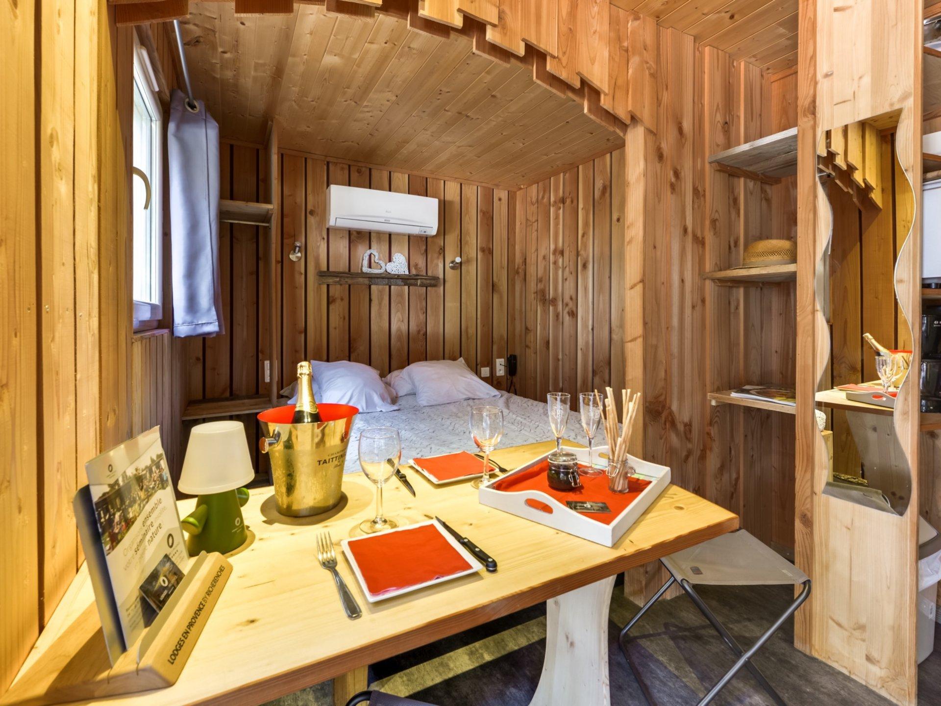 Cabane Provence-Alpes-Côte d\'Azur - Lodge Nid d\'Amour SPA